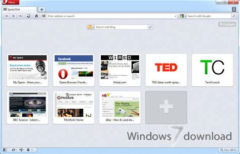 web windows 7 opera for windows 7 smartest featured web browser