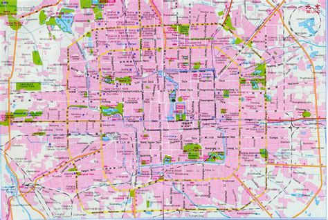 beijing map beijing city