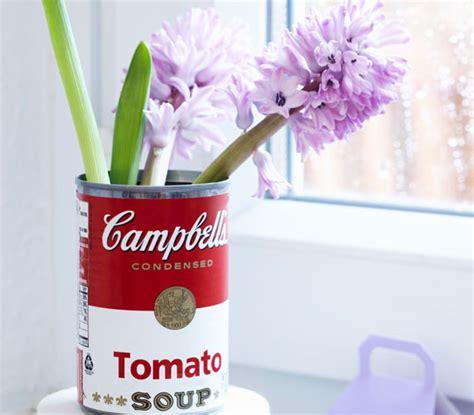 vasi di latta riciclo creativo con i barattoli di latta idee fai da te