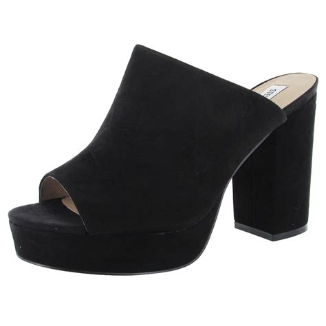 womens mule sneakers steve madden womens stonnes peep toe platform mule shoes