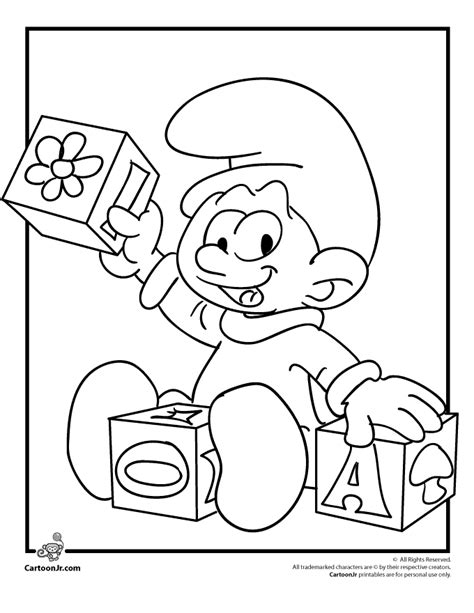 coloring pages smurfs cartoon smurfs coloring pages baby smurf coloring page cartoon