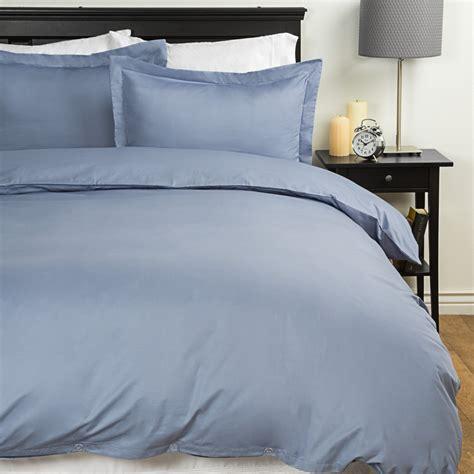 Solid Duvet blue ridge home fashions solid duvet set 300 tc cotton in smoke blue