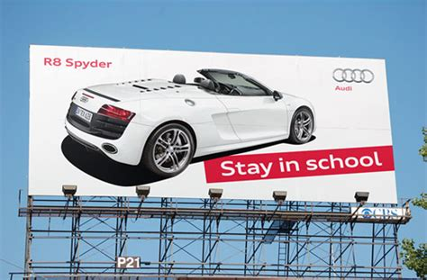 audi r8 ads car ads 40 clever automobile advertisements designrfix com