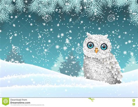 cute winter themes holiday winter theme white owl sitting in snow