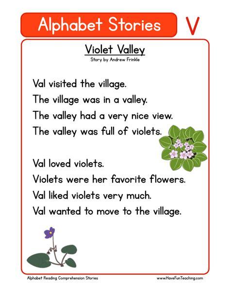 printable alphabet stories kindergarten reading worksheet about flowers kindergarten