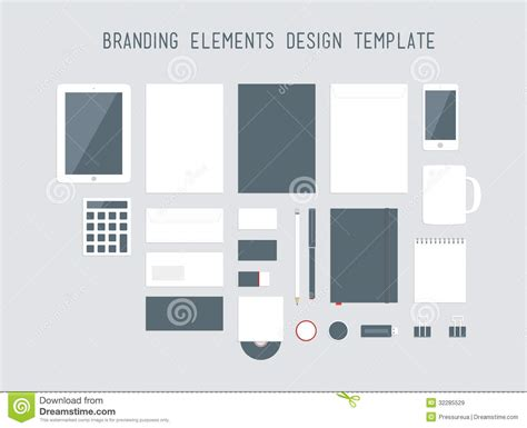 design elements when creating slides branding design elements vector set stock vector image