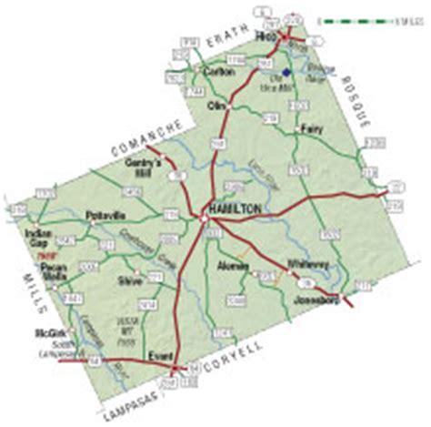 hamilton texas map hamilton county texas almanac