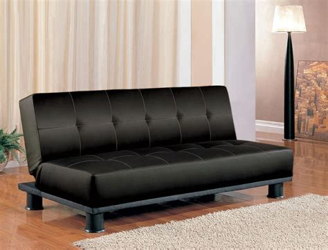 black leather futon couch futon sleeper sofa bed vinyl leather finish ebay