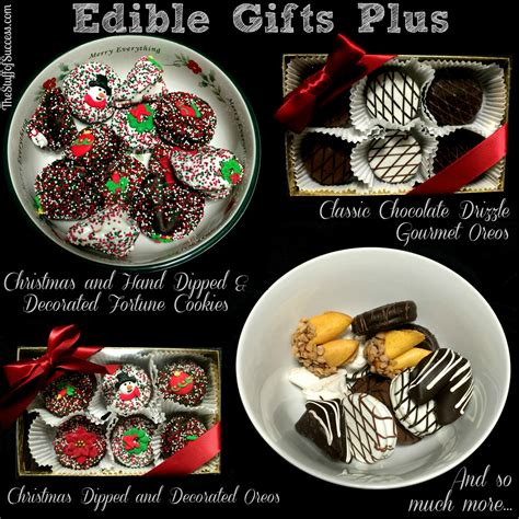 edible gifts plus dipped decorated