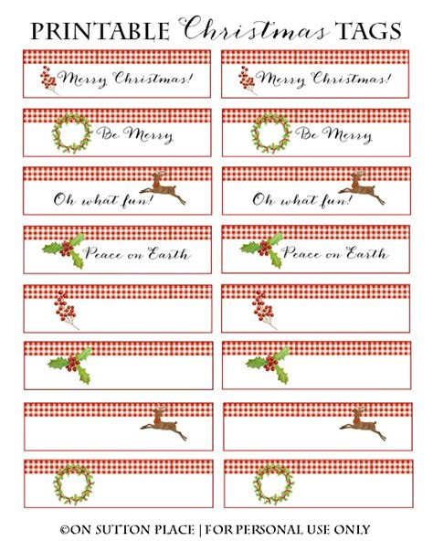 printable christmas cards tags free printable christmas place cards gift tags on