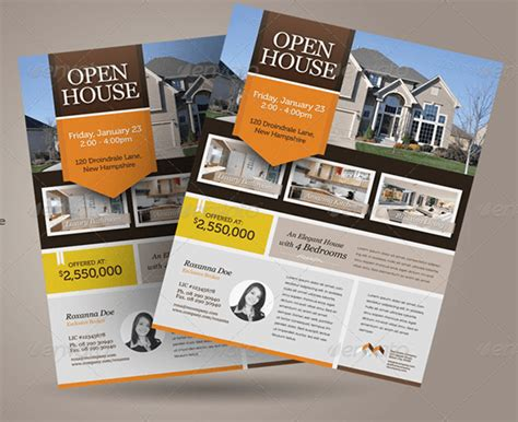 real estate open house template real estate open house template flyer digital marketing agency seo brand name and