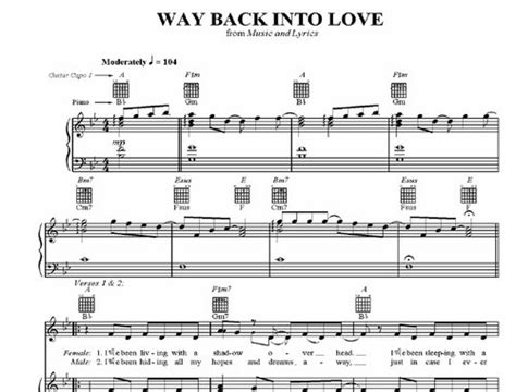 tutorial way back into love 아티스트박스 way back into love 피아노악보