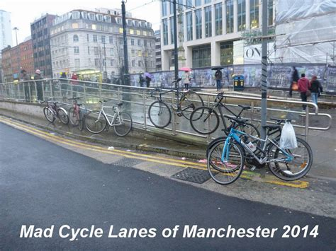 mad cycles mad cycle lanes of manchester manchester central library cycle parking