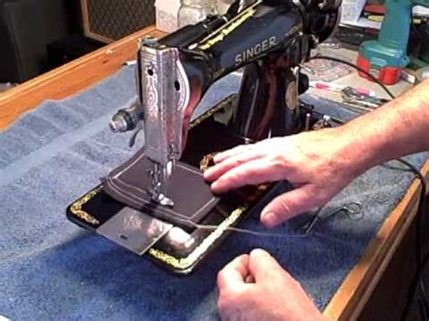 augustusd, 1934 singer 15 91 sew test #1..mp4 youtube