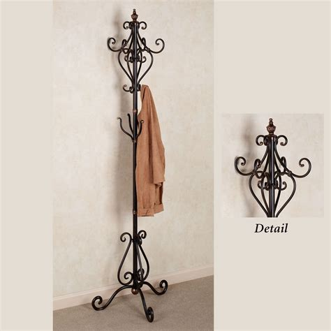Home Decor Wall Clock by Selena Metal Coat Rack Stand