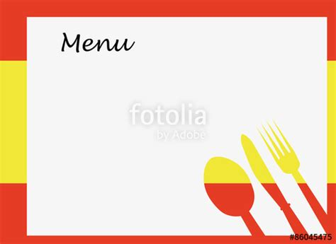 quot spanish menu vector template over flag of spain quot stock