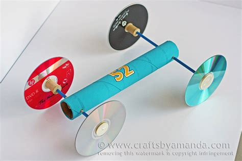 How to make a rubber band car