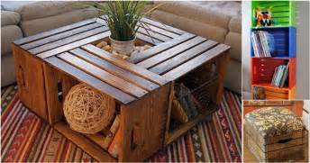 home decor sale uk wooden crates re purposed into diy furniture and storage
