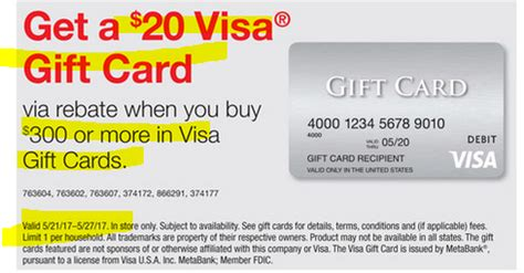Can You Use Staples Gift Cards Online - may 21 27 buy 300 in visa gift card get 20 staples gift card via easyrebate