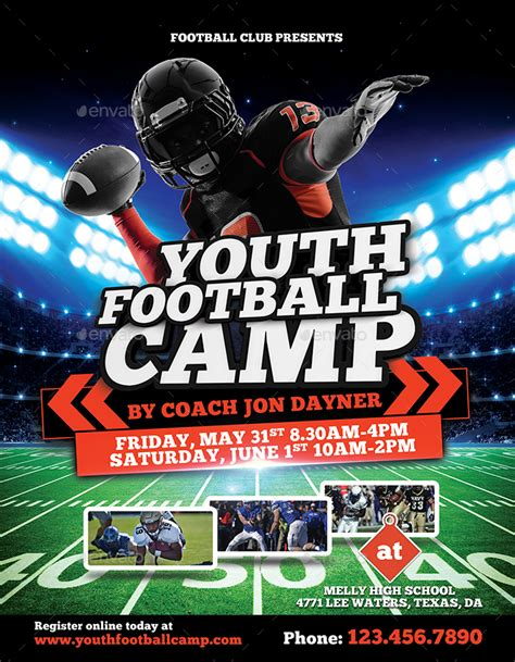 football camp flyer  inddesigner graphicriver