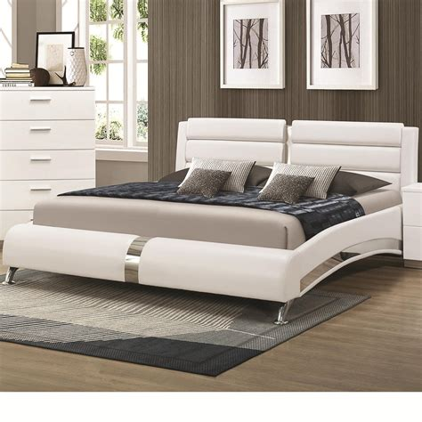 futon kaufen coaster 300345kw silver california king size wood bed