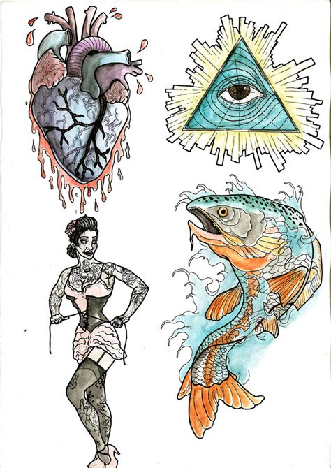 tattoo flash layout tattoo flash design by haaki on deviantart