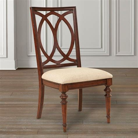 Bassett Furniture Dining Chairs Highlands Pierced Back Side Chair By Bassett Furniture Traditional Dining Chairs Raleigh