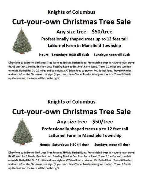 cut your own christmas tree info hackettstown nj