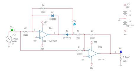 diode bridge in multisim wave bridge rectifier with leds multisim live