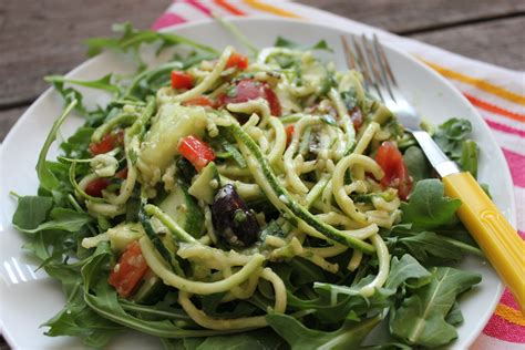 pasta salad with spaghetti noodles simple summer salad zucchini quot pasta quot salad with creamy