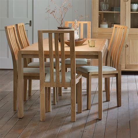 ercol bosco small extending table six chairs dining set