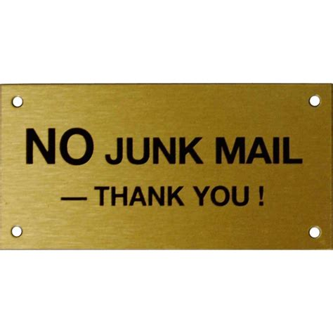 Toilet Sign No Sign Signed Metal Etching Name Plate sandleford 95 x 47mm no junk mail brass sign ebay