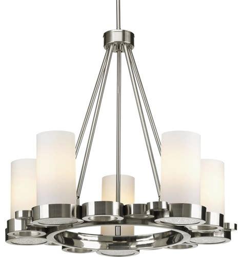 elk lighting five light brushed nickel up chandelier bingo five light contemporary up lighting chandelier