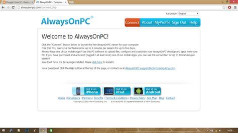 alwaysonpc apk tutorial lengkap free vps alwaysonpc edun