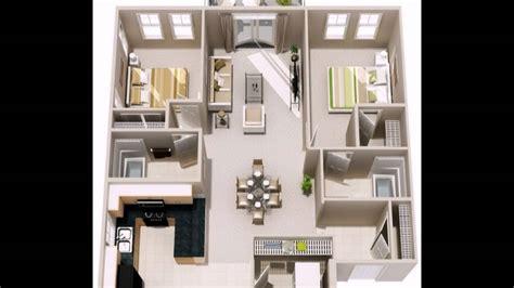 1 schlafzimmer grundrisse zwei schlafzimmer und zwei badezimmer grundriss