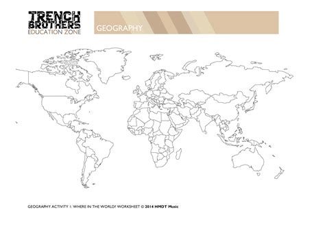 world rivers map worksheet 6 geography trenchbrothers teaching resources