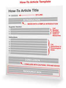 article template how to article template