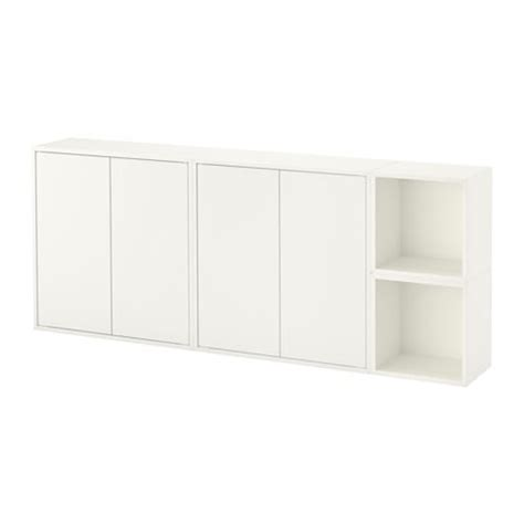 wall mounted cabinets ikea eket wall mounted cabinet combination white ikea