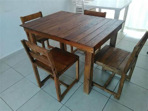 Pallet Dining Table Diy Wooden Pallet Dining Furniture Set 99 Pallets