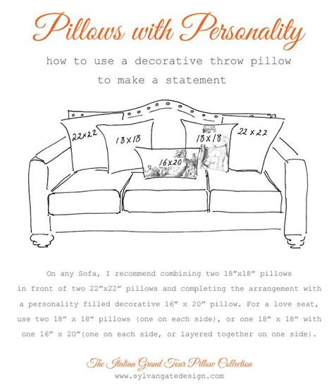 standard couch cushion size pillow sizes for sofa thesofa