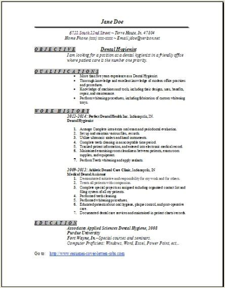 cover letter for resume dental hygienist dental assistant level 1 resume