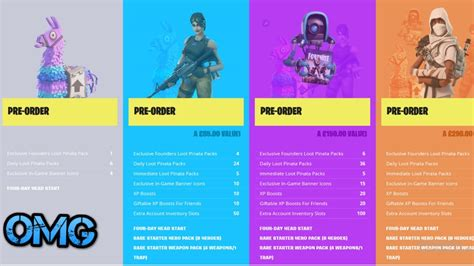 fortnite founders pack wich fortnite founders pack to get news omg