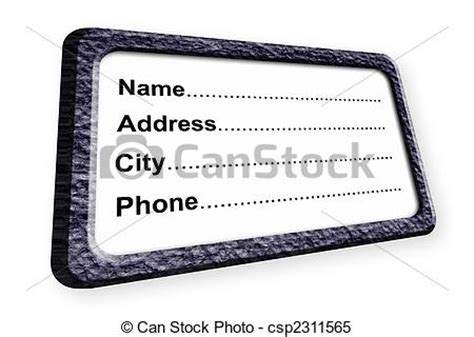 Free Address Search By Name And City Stock Illustrations Of Identification Name Address
