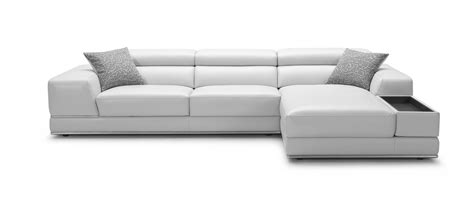 White Leather Contemporary Sofa Premium Reclining Sectional White Leather Modern Bergamo Sofa
