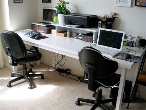 diy 2 person desk using a door home office