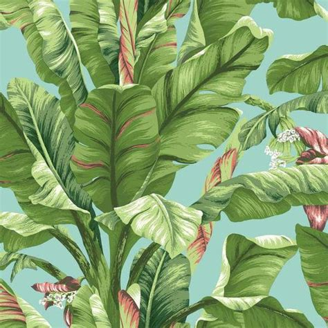 banana scented wallpaper sle banana leaf wallpaper in green and blue design by