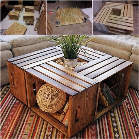 creative ideas for coffee tables how to diy coffee table from recycled wine crates