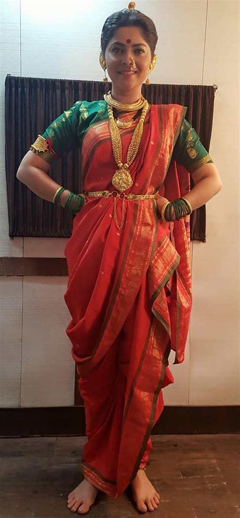 Purple Drape Best 20 Nauvari Sarees With Images