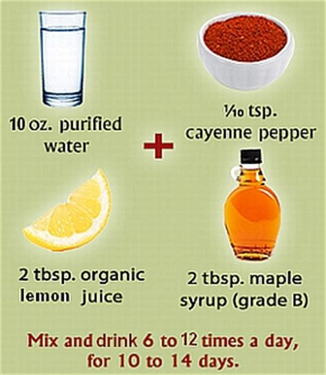 Master Cleanse Detox Ingredients by How To Lose Weight Fast For Special Occasions