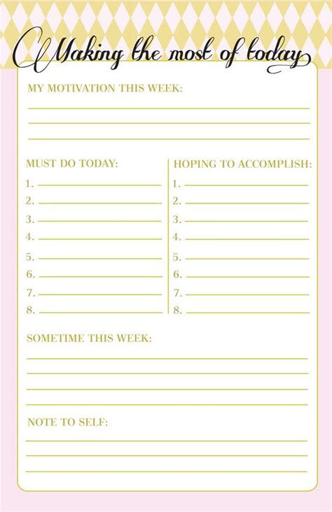 printable weekly planner with to do list making the most of today printable to do list free